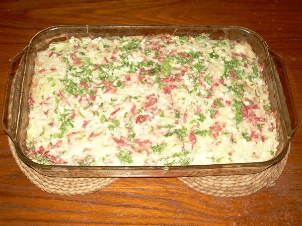corned beef, sauerkraut, Swiss cheese, Bisquick baking mix, Bisquick, milk, eggs, parsley